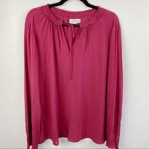 Velvet by Graham Spencer burgundy blouse